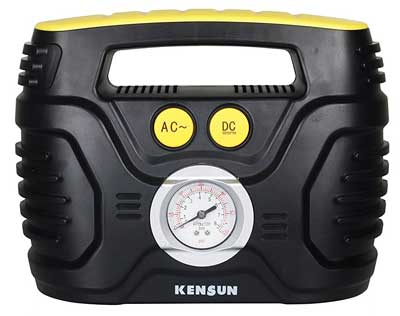 8. Kensun Portable Air Compressor with Analog Display