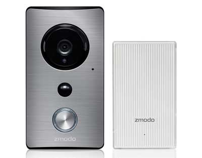 4. Zmodo Wi-Fi Video Doorbell with Wi-Fi Extender