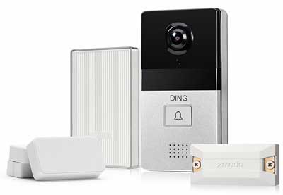 8. Zmodo WiFi Video Doorbell with Smart Home Hub