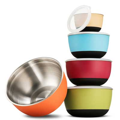 Best Stainless Steel Mixing Bowls - FineDine Stainless Steel Mixing Bowl Set