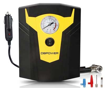 4. DBPOWER Portable Air Compressor - 12V DC Portable Tire Inflator