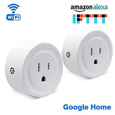 7. YiDian Blutooth Wifi Smart Plug Set of 2 Mini Smart Outlet