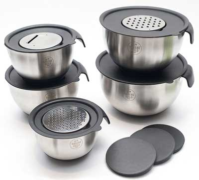 2. Bakers Guild Tool Stainless Steel Mixing Bowl Set