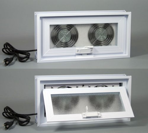 Basement or Crawl Space Window with Fans