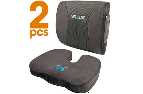 Soft&Care Seat Cushion and Lumbar Support Pillow