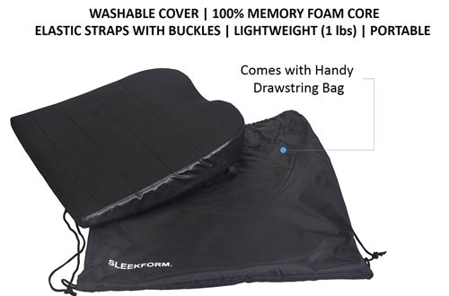 Sleekform Car Seat Cushion With Straps