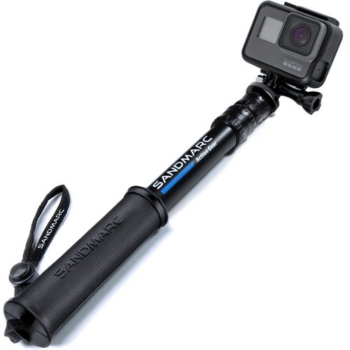 "Compact Edition: 10-25"" Telescoping Pole (Selfie Stick) for GoPro Hero 6"