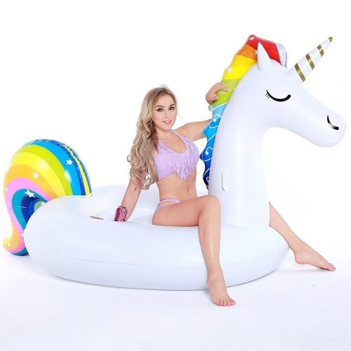 Giant Inflatable Unicorn Pool Party Vacation Beach Toys for Adults Kids