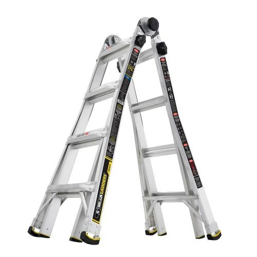 Gorilla Ladders 17 ft. MPX Aluminum Telescoping Multi-Position Ladder