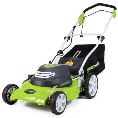 Greenworks 20-Inch 12 Amp Corded Lawn Mower-Push Mowers