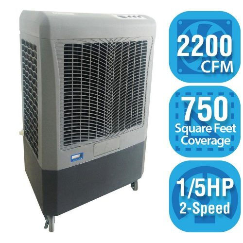 Hessaire MC37A 2200 CFM 3 Speed Evaporative Cooler-Best Evaporative Air Coolers