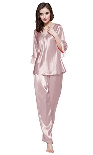 LILYSILK Women's 100% Pure Silk Pajamas Set