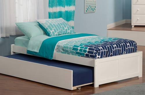 Concord Bed with Flat Panel Foot Board and Trundle Bed