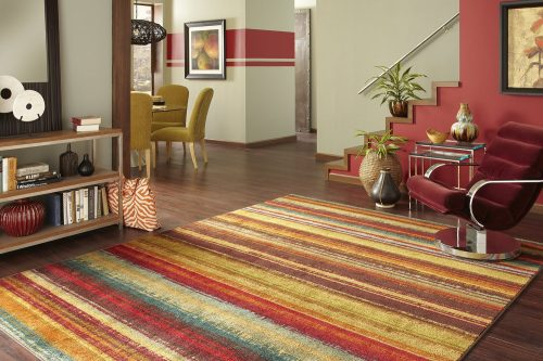 Mohawk Home New Wave Boho Striped Printed Area Rug