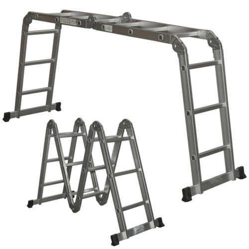 Multi Purpose Aluminum Ladder Folding Step Ladder-Multiposition Ladders