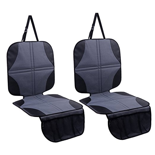 Ohuhu 2-Pack Baby Child Car Auto Carseat Seat Protector Cover Dog Mat