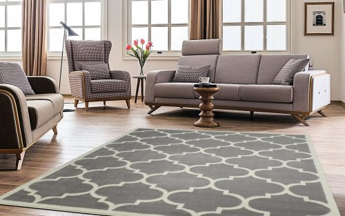 Ottomanson Paterson Collection Contemporary Moroccan Trellis Design Lattice Area Rug-Large Rugs