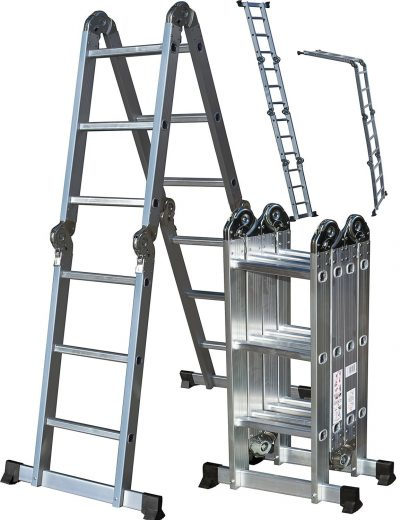OxGord Aluminum Folding Scaffold Work Ladder