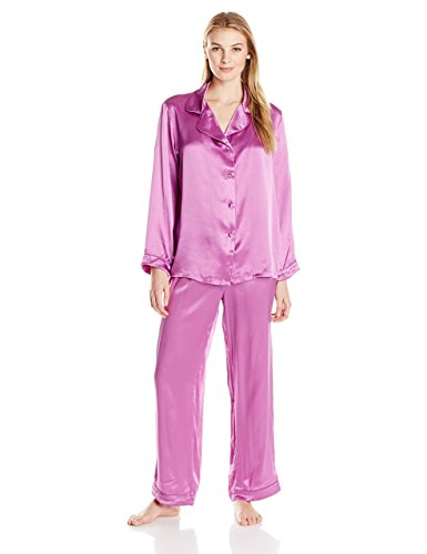 Roll over image to zoom in Fishers Finery Fishers Finery Women's Classic Pure Mulberry Silk Pajama -Silk Pajamas