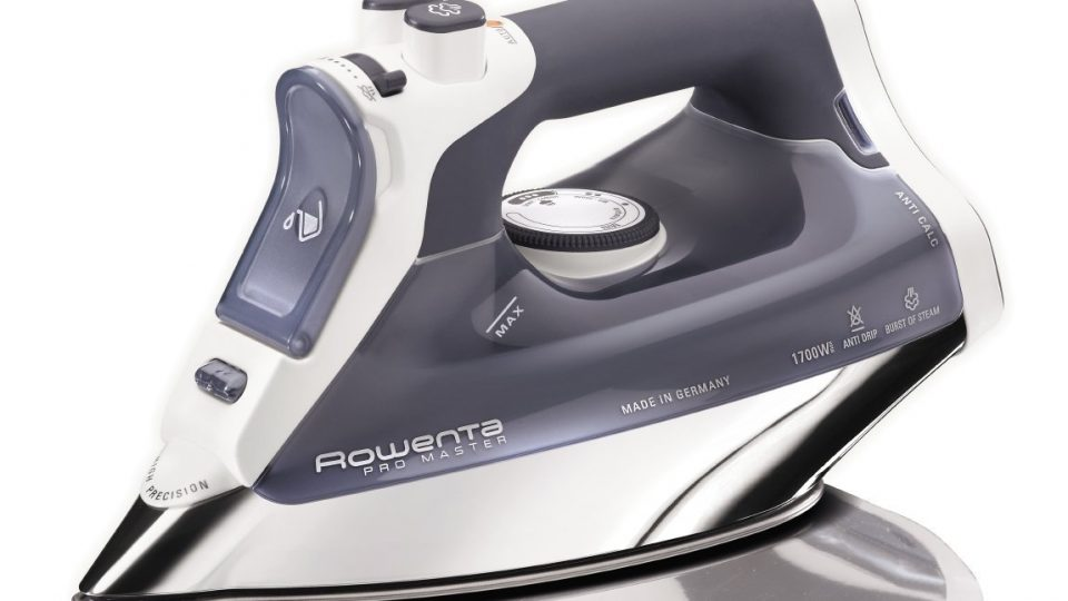 Rowenta DW8080 Pro Master 1700-Watt Micro Steam Iron Stainless Steel