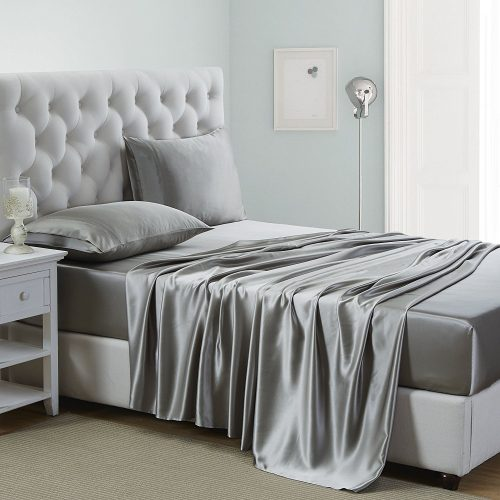 Silk Bed Sheet Set Seamless Deep Pocket