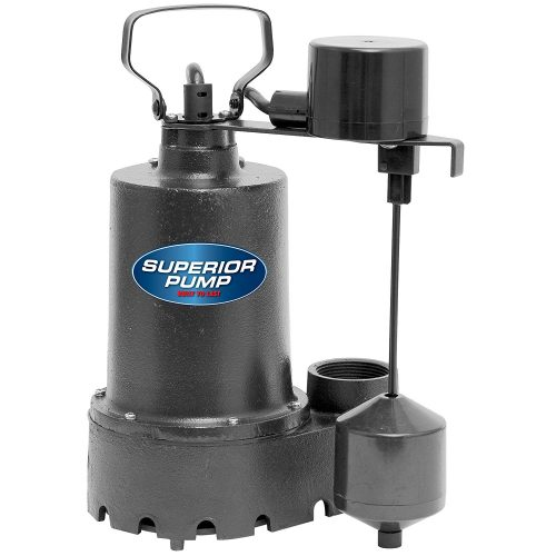 Superior Pump 92341 1/3 HP CAST IRON Sump Pump