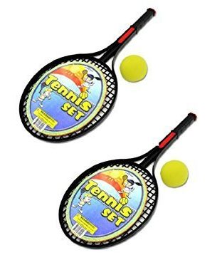 Tennis Racket Two Piece Active Play Set WithTwo Foam Balls