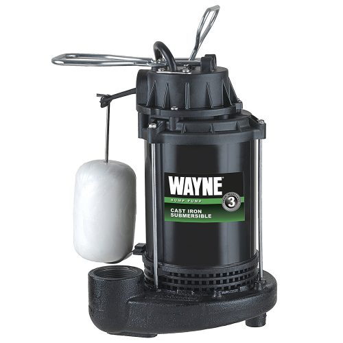 WAYNE CDU790 1/3 HP Submersible Cast Iron and Steel Sump Pump