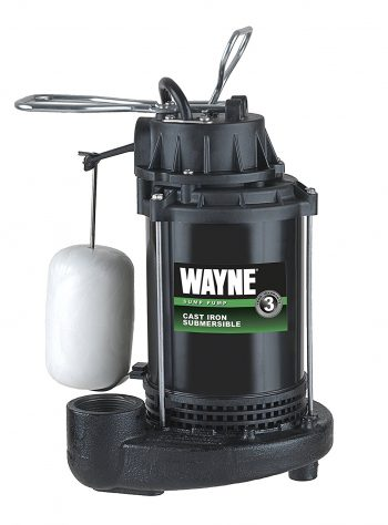 WAYNE CDU800 1/2 HP Submersible Cast Iron and Steel Sump Pump