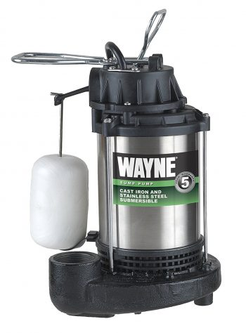 WAYNE CDU980E 3/4 HP Submersible Cast Iron and Stainless Steel Sump Pump -Sump Pumps