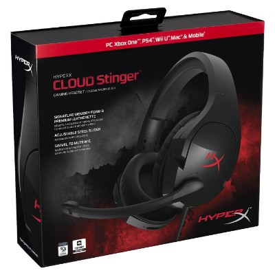 HyperX Cloud Stinger Gaming Headset for PC, Xbox One, PS4, Wii U (HX-HSCS-BK:NA)