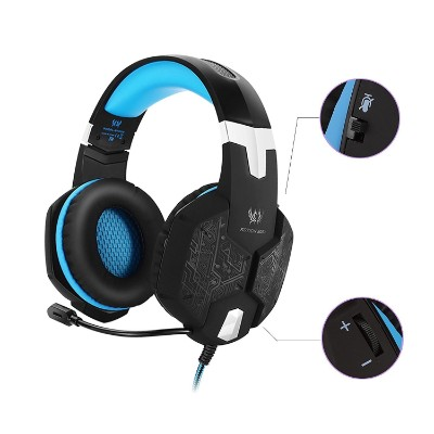 Jeecoo JC-G1000 Stereo Over-ear Gaming Headset with 7 Colors Breathing LED Light