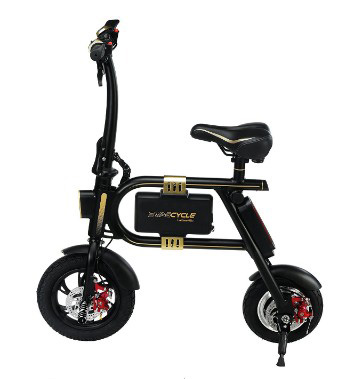 SWAGTRON SwagCycle E-Bike – Folding Electric Bicycle with 10 Mile Range, Collapsible