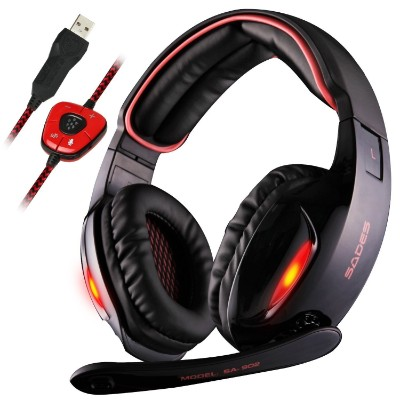 Sades SA902 7.1 Channel Virtual USB Surround Stereo Wired PC Gaming Headset