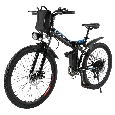 ANCHEER Folding Electric Bike with 26 Inch Wheel, Lithium-Ion Battery (36V 250W)