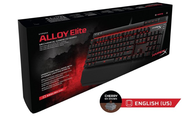 HyperX Alloy Elite Mechanical Gaming Keyboard, Cherry MX Brown, (HX-KB2BR1-US:R1)