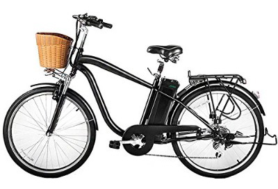 NAKTO:SPARK 26'' City Electric Bicycle Ebike with 36V 10Ah Lithium Battery for Men