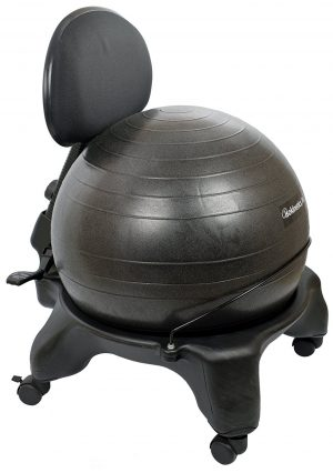 Adjustable Back Exercise Ball Office Chair