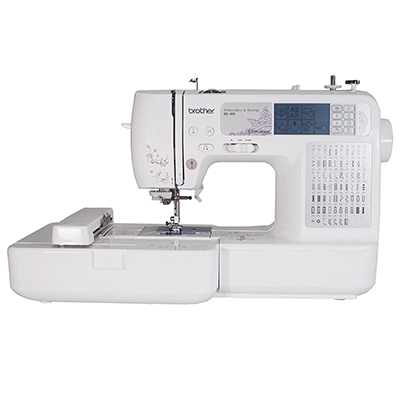 Brother SE400 Computerized Sewing and four by four Embroidery Machine