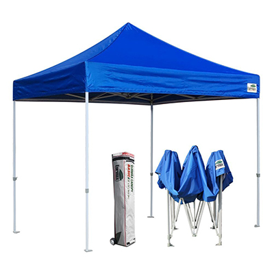 Eurmax Pop up Canopy Tent Commercial Instant Shelter, 10 x 10 with Heavy Duty Roller Bag
