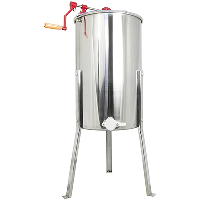 VIVO New Large Three 3 Frame Stainless Steel Honey Extractor