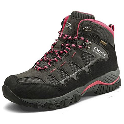 Clorts Women's Hiker Outdoor Leather Waterproof Boot Backpacking Shoe HKM823