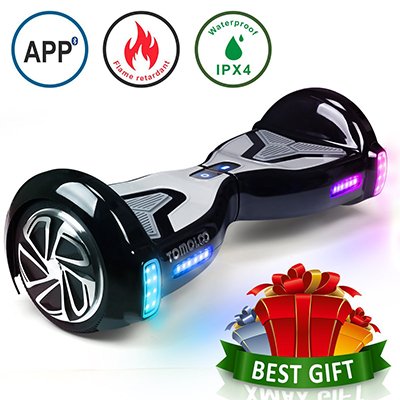 TOMOLOO Hoverboard with Bluetooth Speaker Two-Wheel Self Balancing Electric Scooter