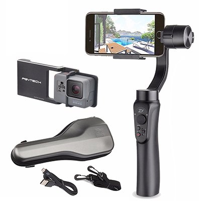 Zhiyun Smooth Handheld 3-Axis Q w/ Plate, Gimbal Stabilizer for Smartphone and GoPro Hero