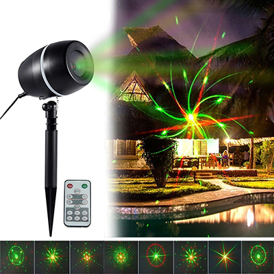 Tofu Holiday Galaxy Lights Projector, Waterproof LED Red and Green Slide Show Magic Fairy Projection Lighting