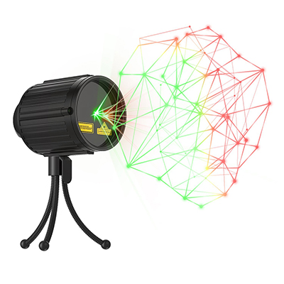 GEEKERS LED Projector Star Laser Shower IP65 Waterproof Outdoor Indoor Green and Red Star Light