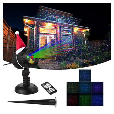 VERKB Christmas Laser Projector Lights, RGB Romantic Stars Effect, Wireless Remote Control, Waterproof