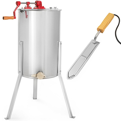 XtremepowerUS 2-Frame Honey Extractor Stainless Steel