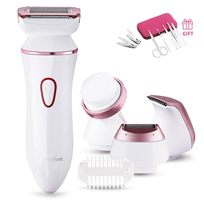 Ladies Electric Shaver, Morpilot 4 in 1 Cordless Electric Shaver for Women