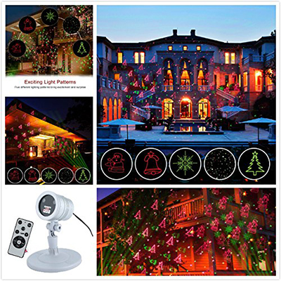 BEIYI HOME-US Christmas Projector Lights Green & Red Laser Lights Laser, Wireless Remote, IP44 Waterproof